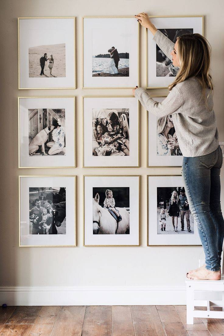 Picture Frame Wall | Beautiful Space, Budgeting And Spaces Inside Most Recently Released Photography Wall Art (View 5 of 25)