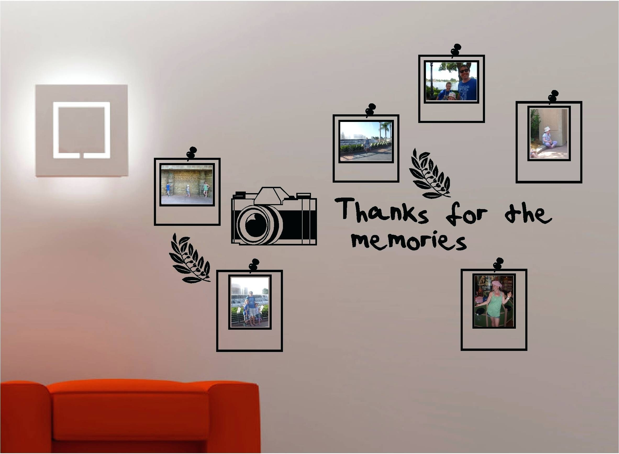 Picture Frame Wall Collage Kit Photo Frame Wall Decor Sticker For Most Popular Wall Art Frames (View 12 of 20)