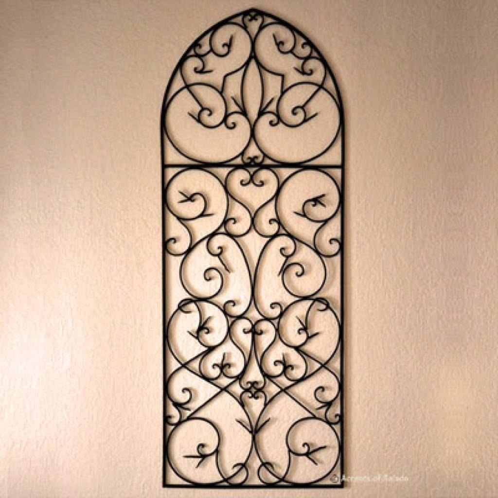 Picture Of Diy Faux Wrought Iron Wall Art Wrought Iron Wall Art Intended For Best And Newest Faux Wrought Iron Wall Art (View 19 of 30)