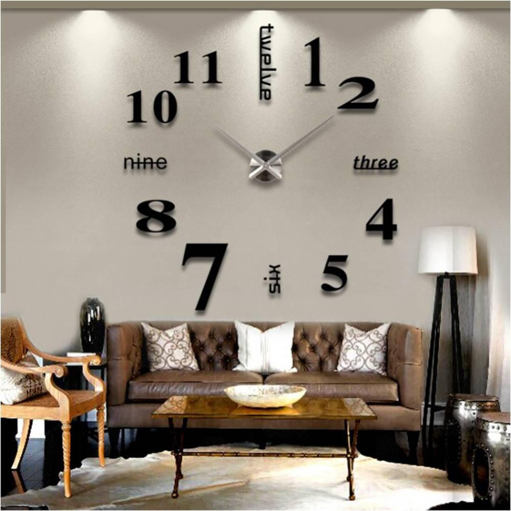 Picture Wall Clocks Art Large Wall Clocksnew Colors Wall Clock With Regard To Current Cheap Big Wall Art (View 13 of 20)