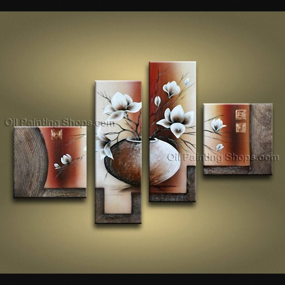 Pieces Contemporary Wall Art Floral Painting Tulip Contemporary Decor Within 2018 Contemporary Wall Art (View 16 of 20)