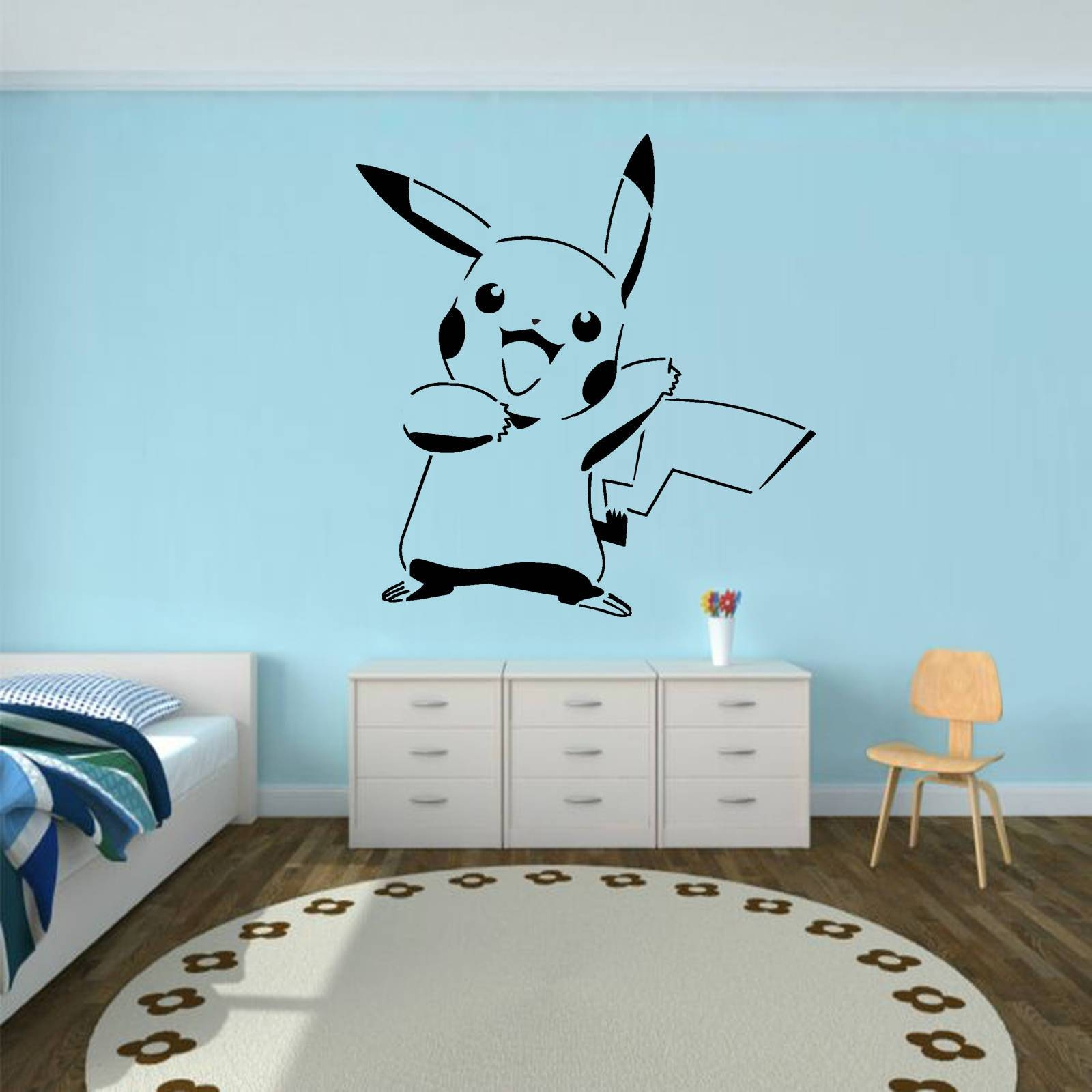 Pikachu Pokemon Mylar Airbrush Painting Wall Art Stencil From With Most Popular Airbrush Wall Art (View 15 of 20)