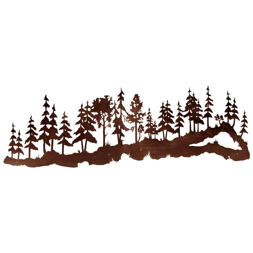 Pine Forest Scene Huge 7ft Laser Cut Wall Art 84x Throughout Most Current Pine Tree Metal Wall Art (View 16 of 25)
