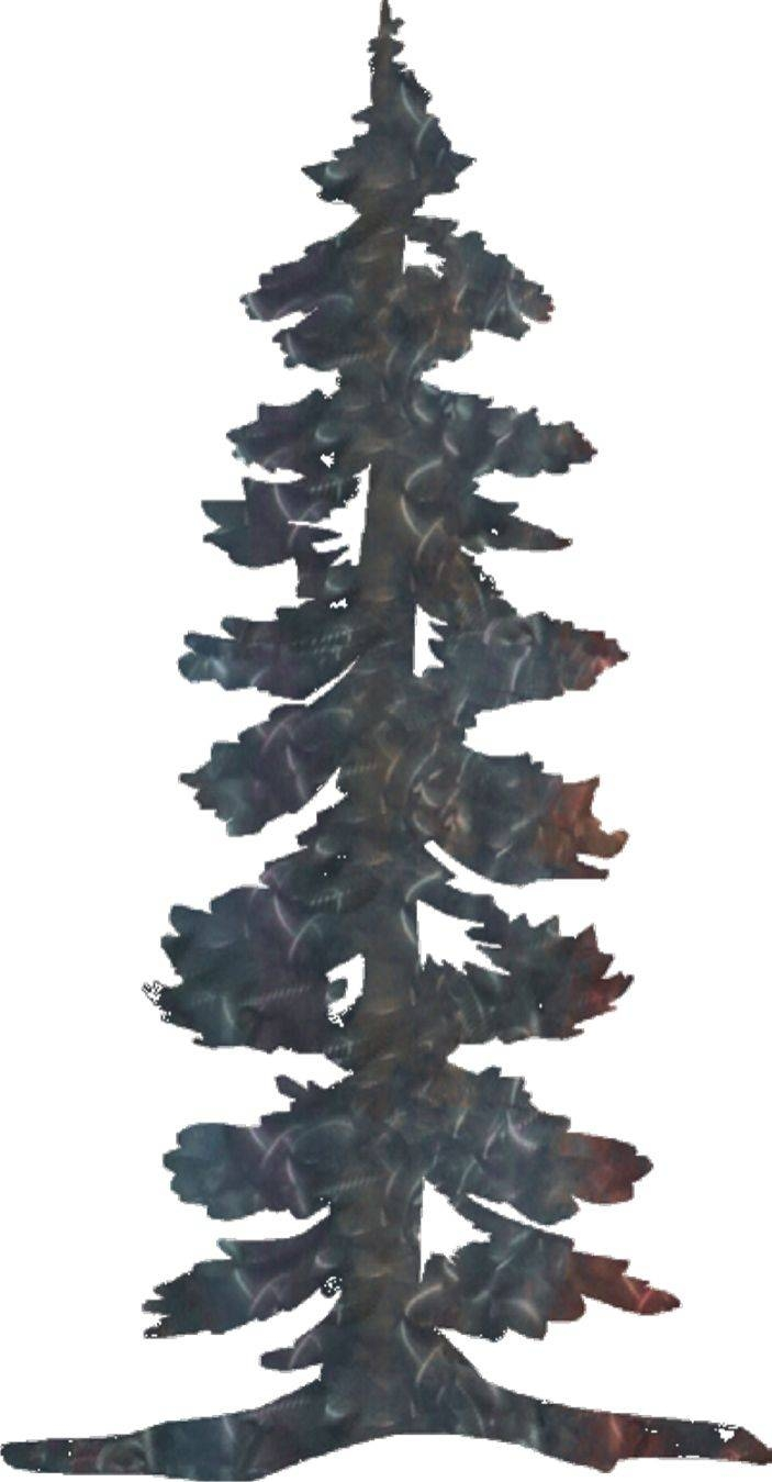 Pine Tree And Mountain Scene Clipart – Clip Art Library Inside 2018 Pine Tree Metal Wall Art (View 11 of 25)