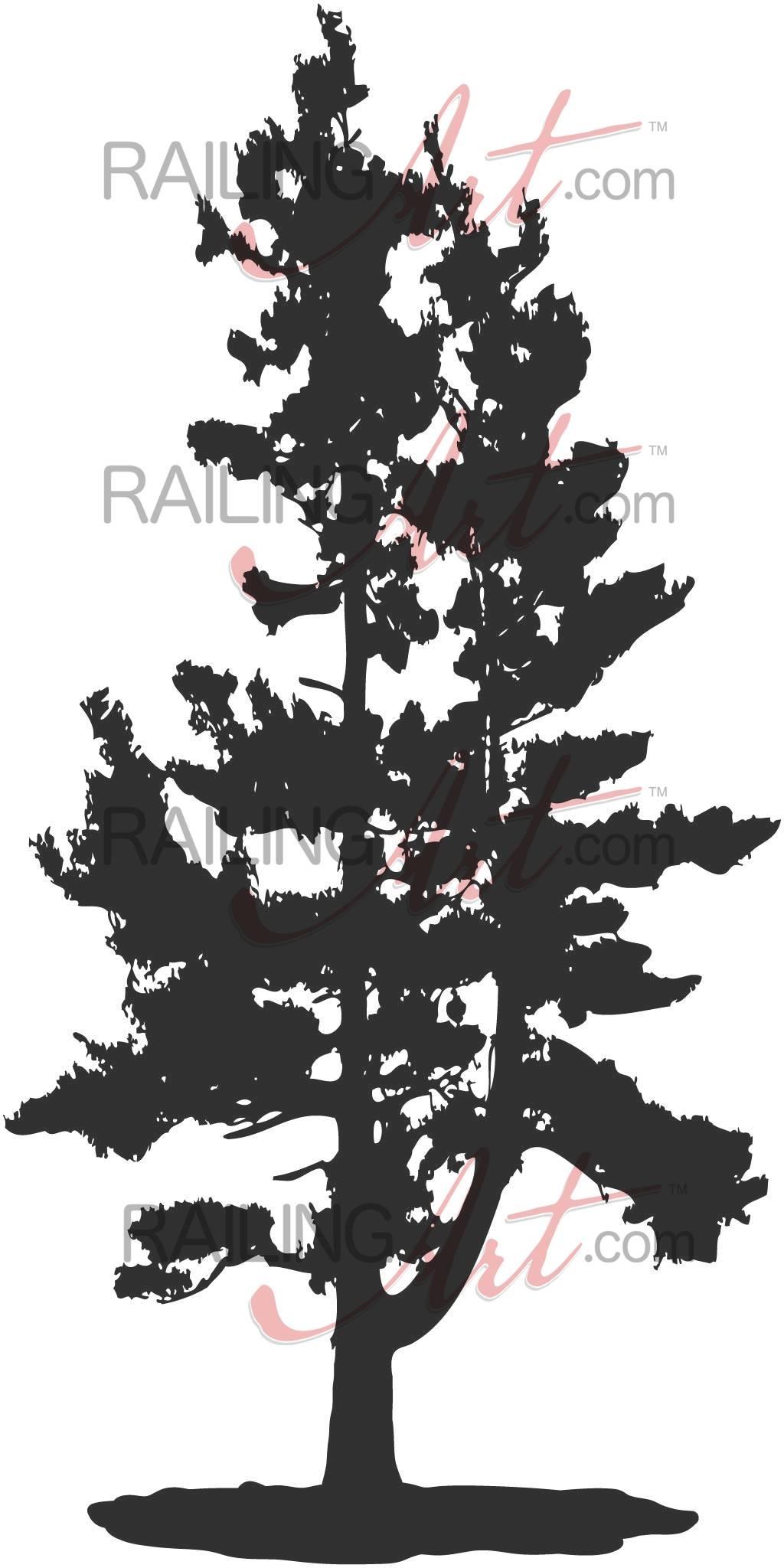 Pine Tree – Custom Laser Cut Metal Art | Railingart Intended For Latest Pine Tree Wall Art (View 26 of 30)
