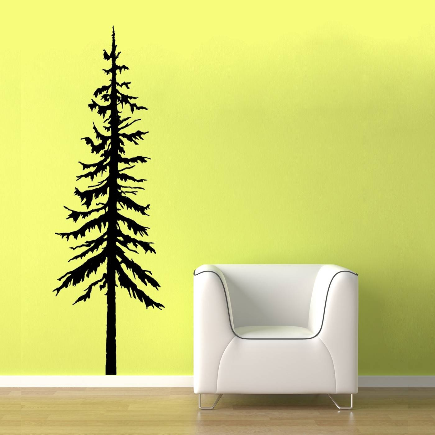 Pine Tree Decal Vinyl Wall Graphic Pine Tree Decal Pine Intended For Current Pine Tree Wall Art (View 13 of 30)