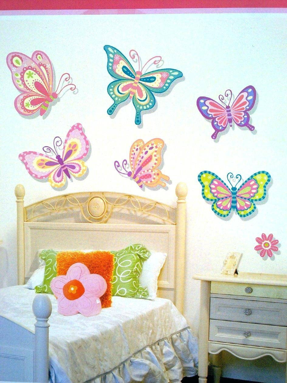 Pink Butterfly Wall Decals Best Butterfly Wall Decor Ideas On Throughout Most Up To Date Butterflies Wall Art Stickers (View 6 of 20)