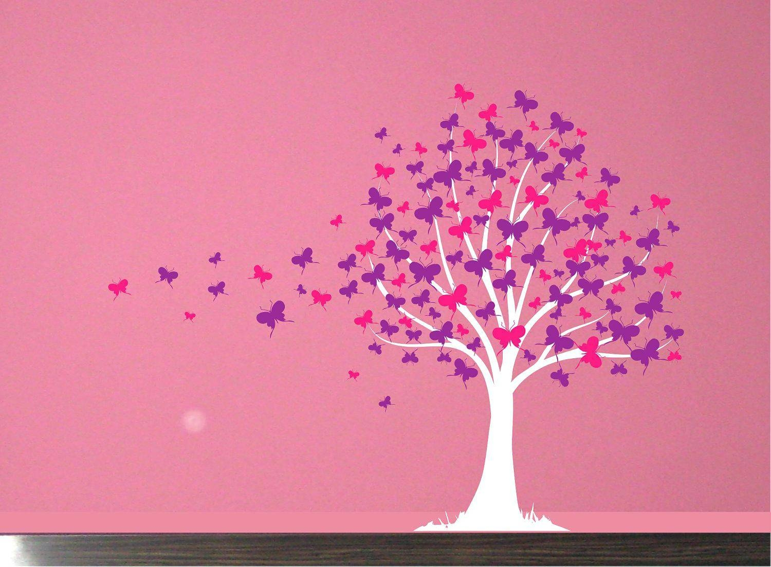 Pink Butterfly Wall Decals Best Butterfly Wall Decor Ideas On Within Best And Newest Pink Butterfly Wall Art (View 17 of 20)