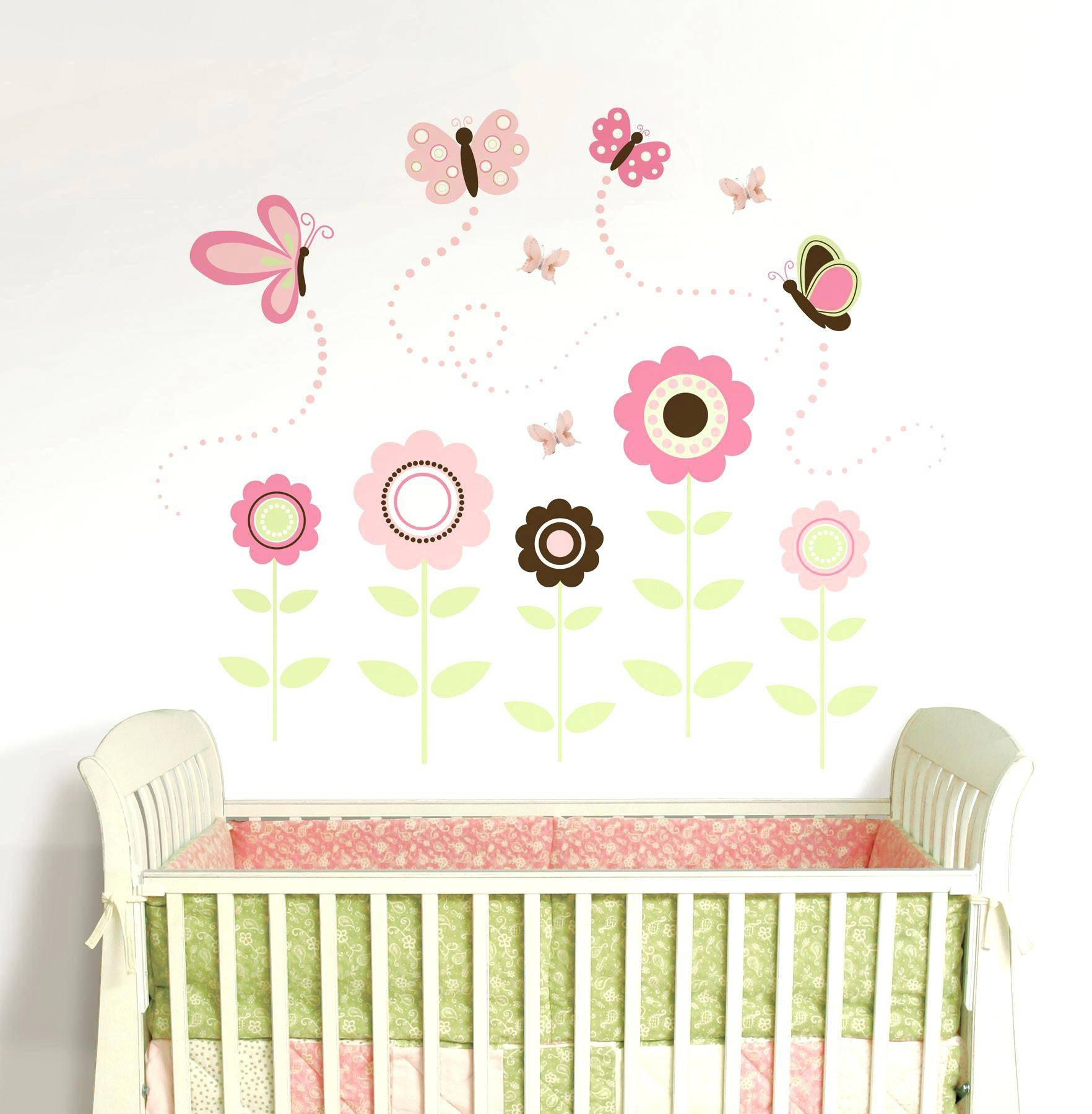 Pink Butterfly Wall Decals Butterfly Garden Wall Art Sticker Kit Within Recent Pink Butterfly Wall Art (View 18 of 20)