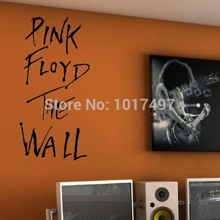 "Pink Floyd The Wall"" Vinyl Wall Sticker Classic Rock Music Lyrics Inside Best And Newest Music Lyrics Wall Art (View 9 of 20)"