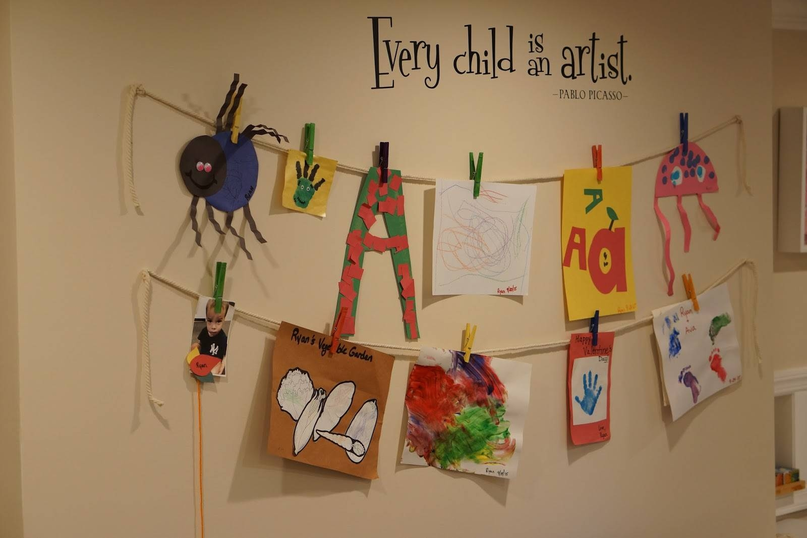 Pinkrosemama: Diy Playroom Art Wall With Most Recently Released Playroom Wall Art (View 6 of 30)
