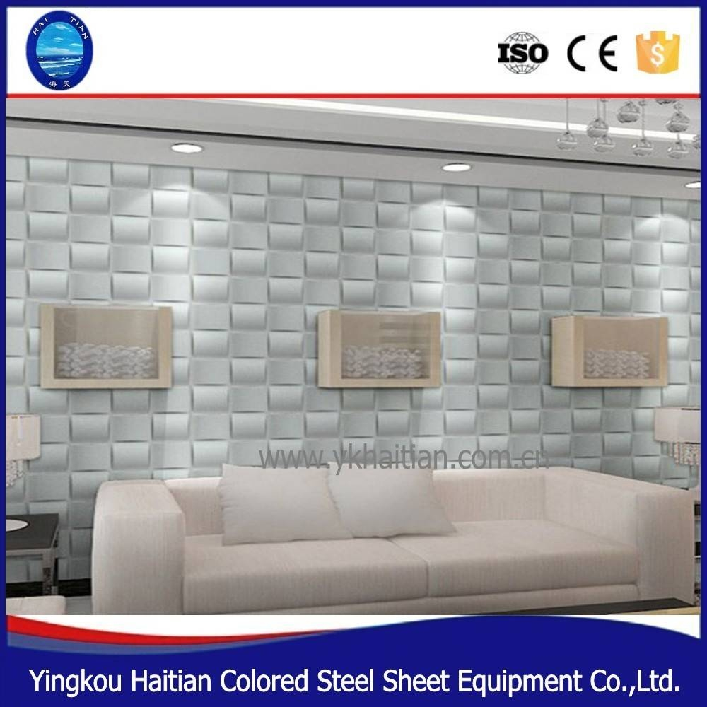 Plastic Pvc Decor 3d Embossed Background Panel Board Home Inside 2017 3d Plastic Wall Panels (View 4 of 20)
