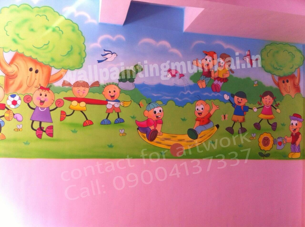 Play School Wall Painting: April 2015 With Latest Preschool Wall Art (Gallery 15 of 30)