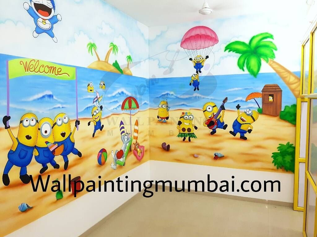 Play School Wall Painting for Most Up-to-Date Preschool Wall Art