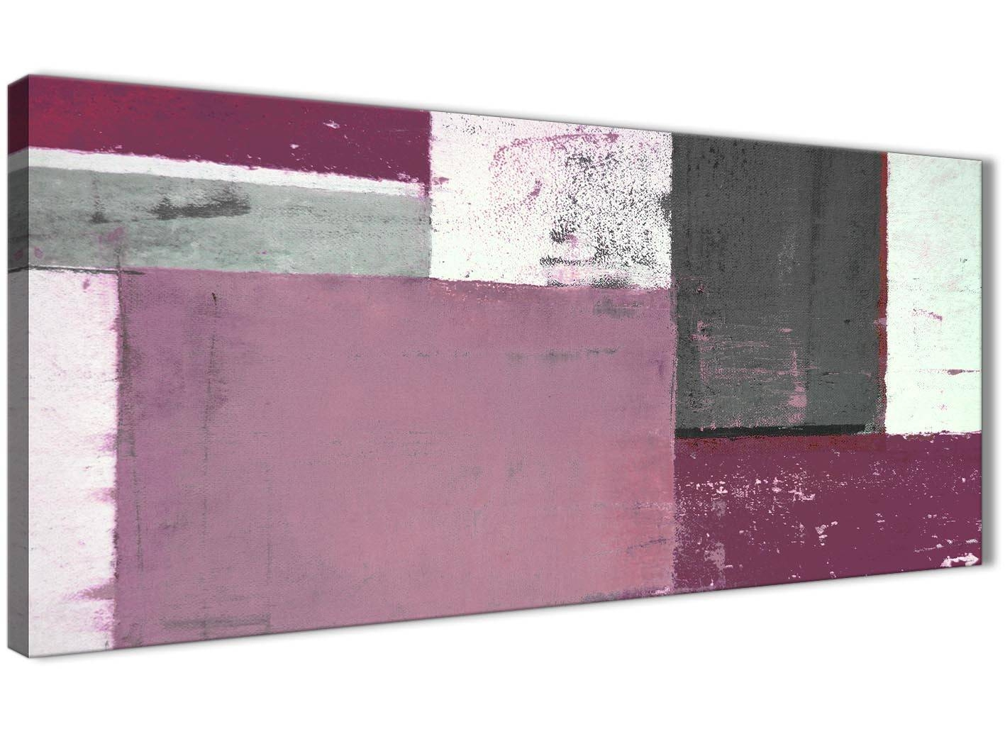 Plum Grey Abstract Painting Canvas Wall Art Picture – Modern 120cm Intended For Most Recent Plum Wall Art (View 16 of 20)