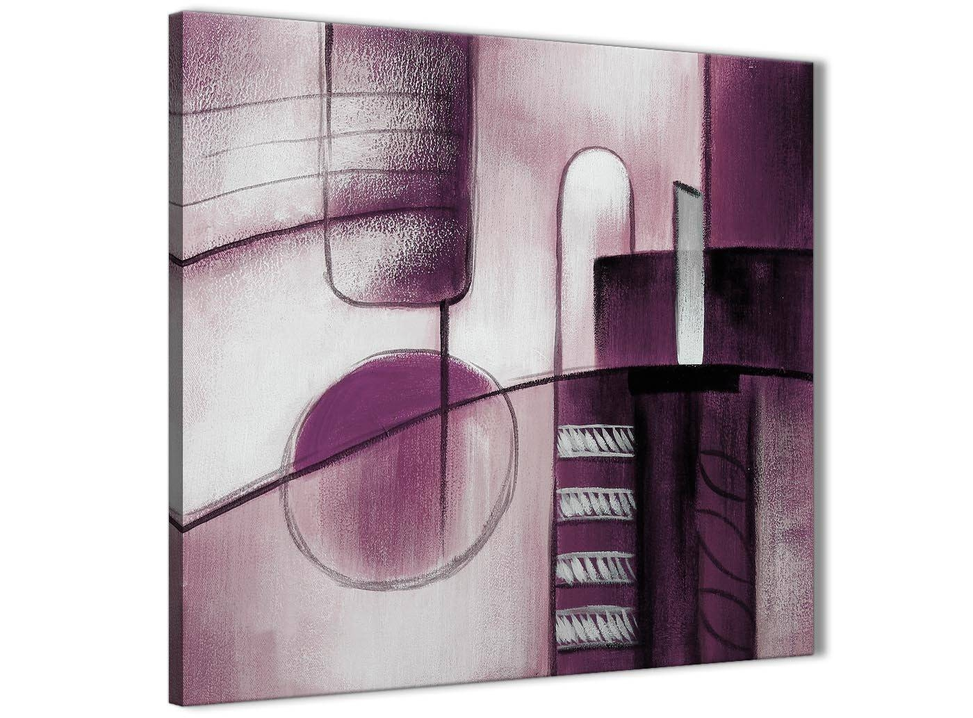 Plum Grey Painting Abstract Hallway Canvas Wall Art Decor 1S420L Pertaining To Newest Plum Wall Art (View 15 of 20)
