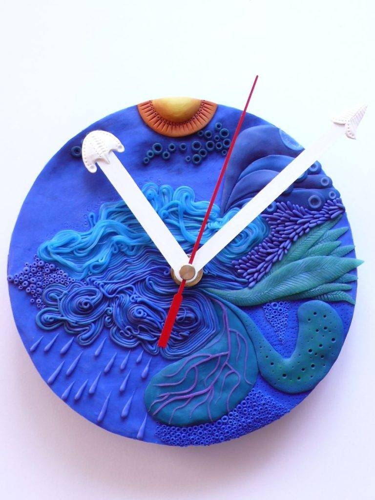 Polymer Clay Clocksnibyniebo – Timeless Art That Tells Time Within Newest Polymer Clay Wall Art (View 12 of 20)