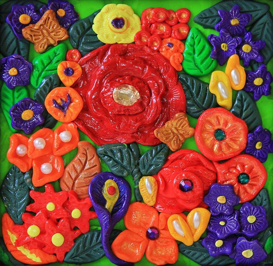 Polymer Clay Flowers Wall Art Photographdonna Haggerty Throughout Most Recent Polymer Clay Wall Art (View 7 of 20)