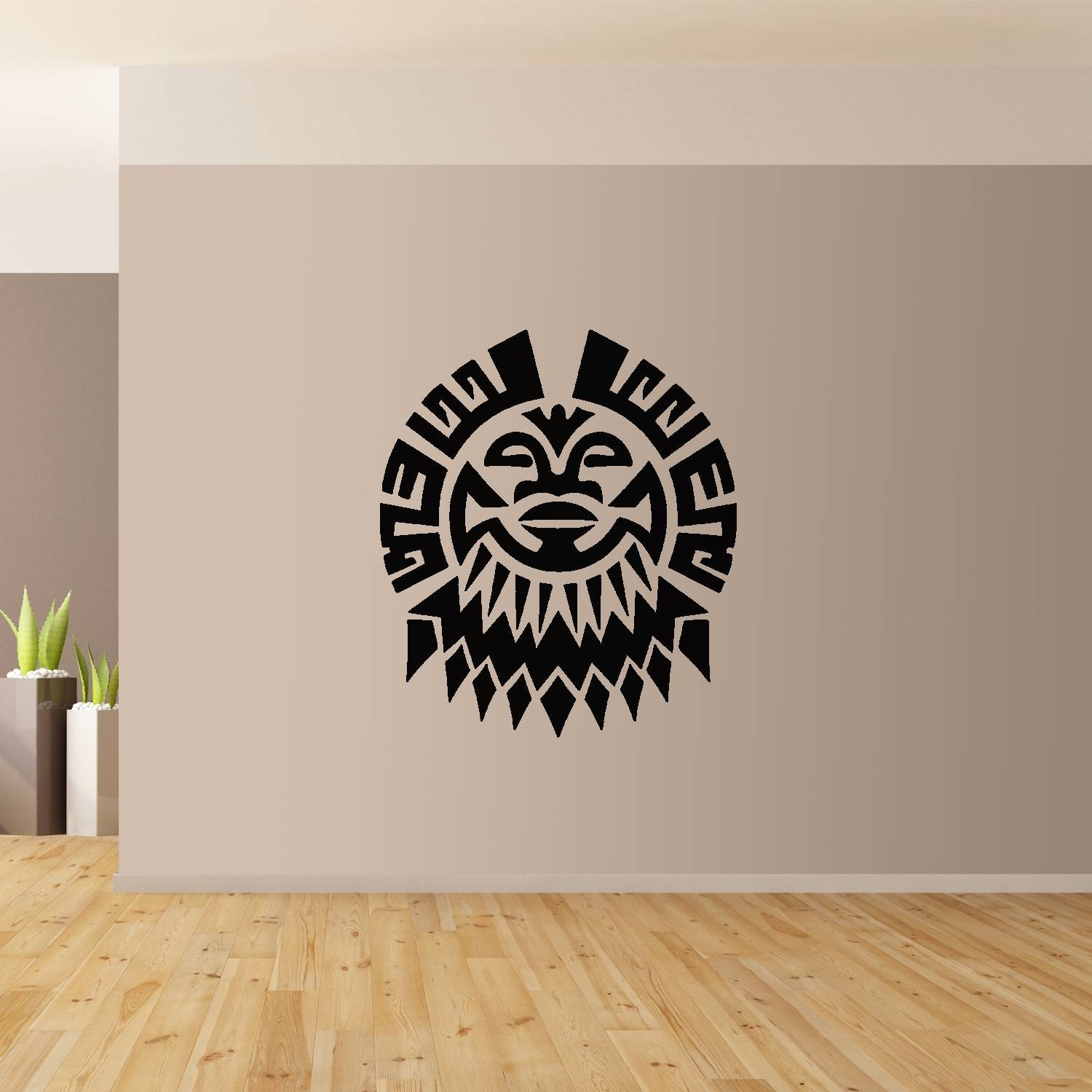 Polynesian Flower Wall Art Giant Sticker Mural Graphic French Inside Best And Newest Polynesian Wall Art (View 7 of 20)