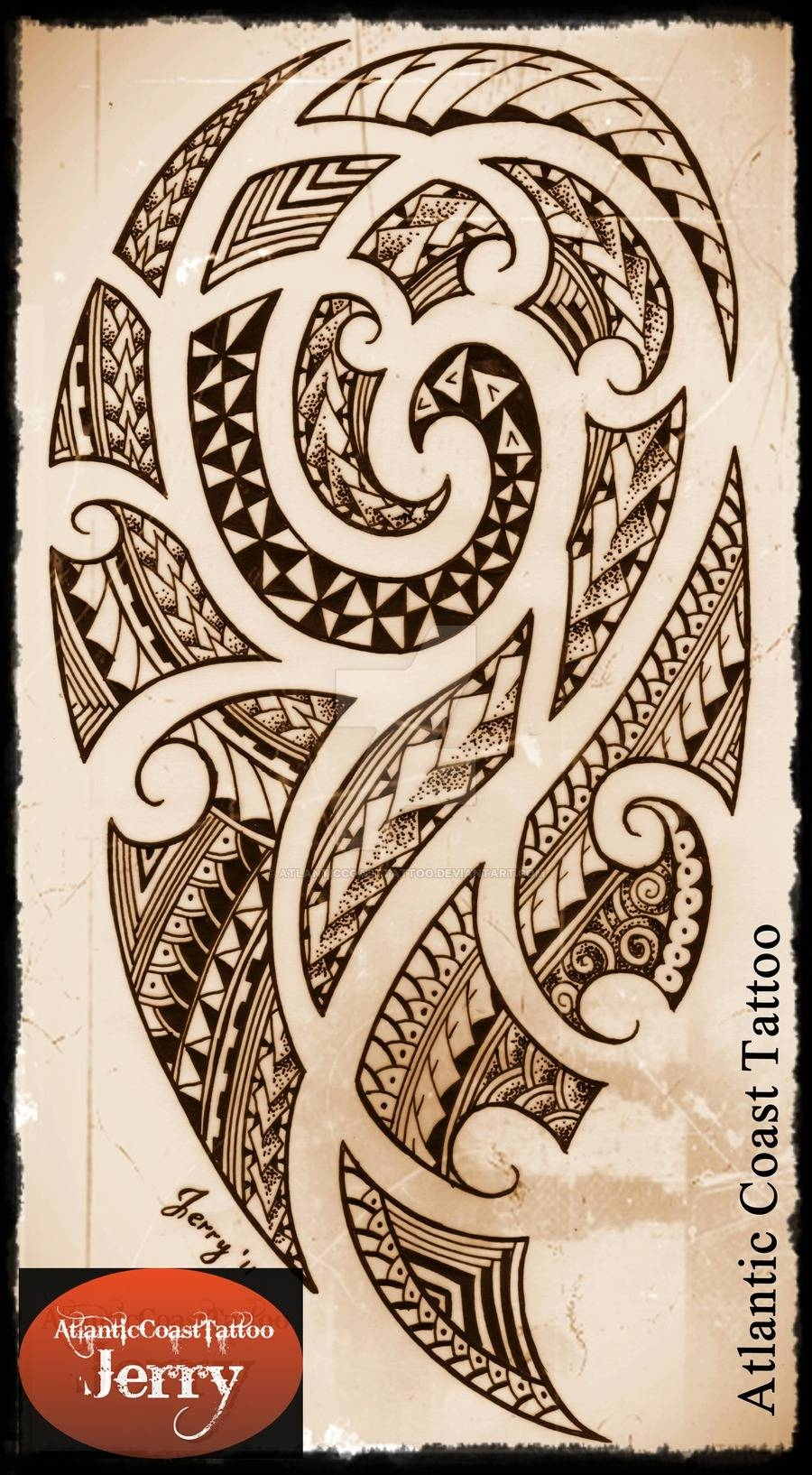 Polynesiantattoo | Explore Polynesiantattoo On Deviantart Inside Latest Polynesian Wall Art (View 13 of 20)