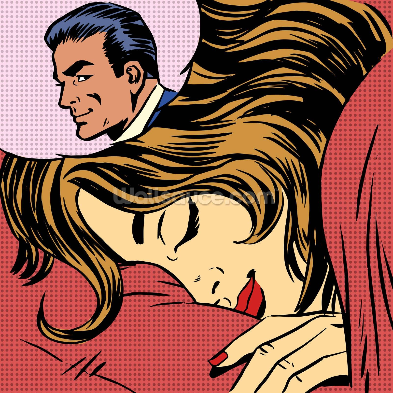 Pop Art Dream Romance Wallpaper Wall Mural | Wallsauce Europe For Most Recent Pop Art Wallpaper For Walls (View 13 of 20)