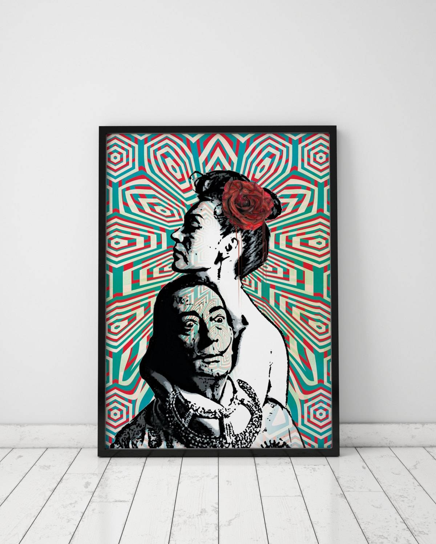 Pop Art Print Salvador Dali Print Dali Print Op Art Pop Art With Regard To 2017 Salvador Dali Wall Art (View 12 of 20)