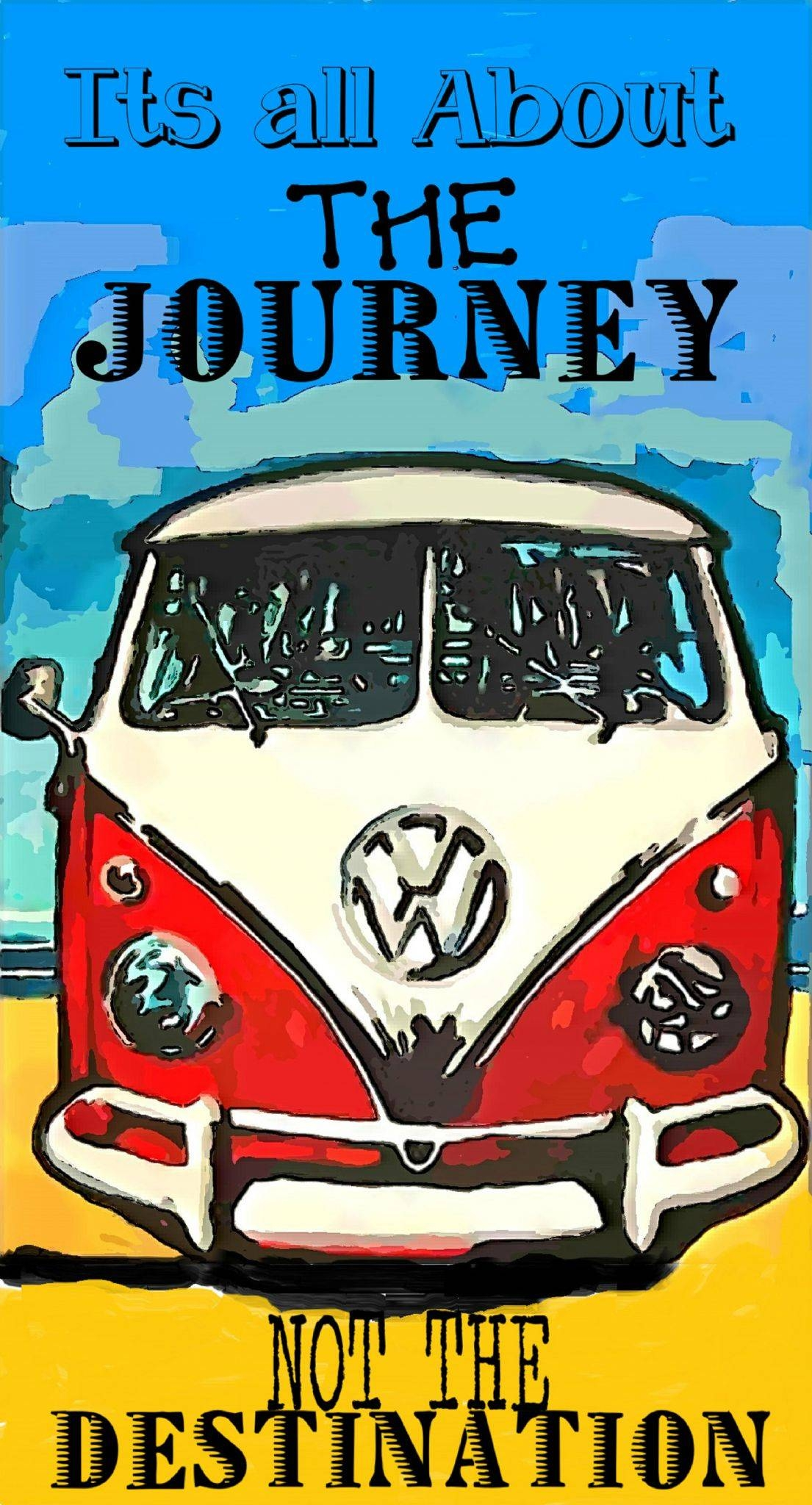 Pop Art Vw Camper Inspirational Quote Vintage Style Metal Wall Plaque Throughout Most Popular Campervan Metal Wall Art (View 12 of 20)