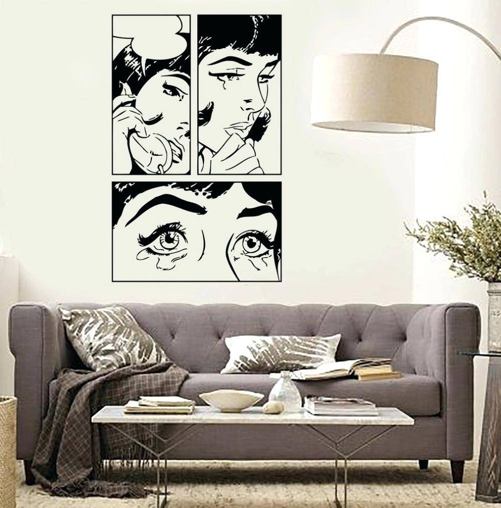 Pop Wall Decals Modern Wallpaper Texture Design Download Interior Inside Most Current Pop Art Wallpaper For Walls (View 15 of 20)