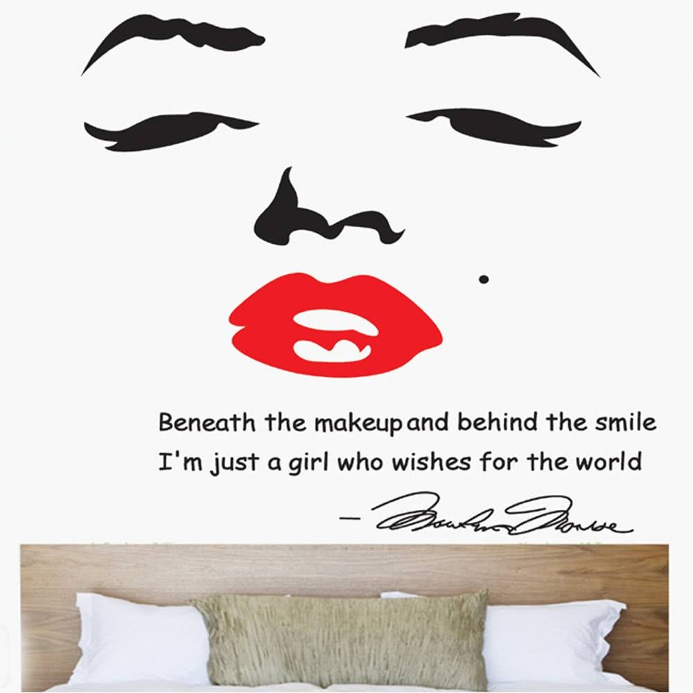 Portrait Of Marilyn Monroe Diy Wall Wallpaper Stickers Art Sales With Regard To Best And Newest Marilyn Monroe Wall Art (View 15 of 25)