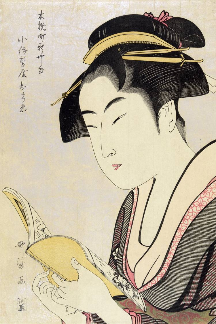 Portrait Poster Canvas Painting Japanese Traditional Art Scenery Pertaining To Most Up To Date Geisha Canvas Wall Art (View 13 of 20)