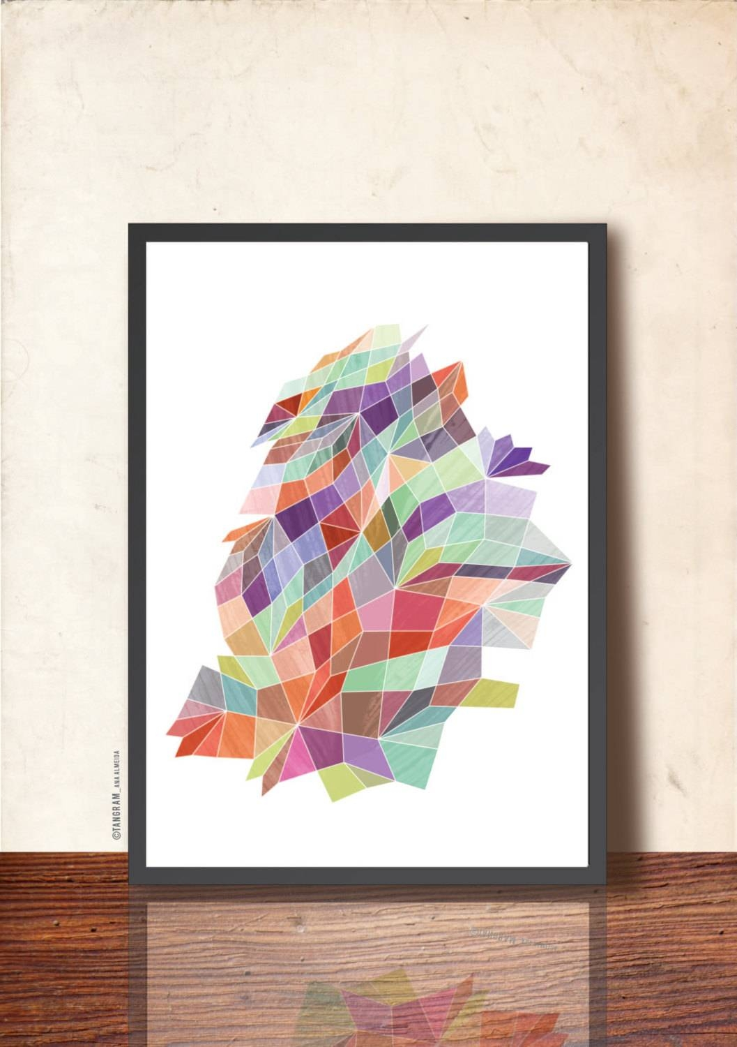 Poster Geometric Print A3 Abstract Wall Art (View 25 of 31)