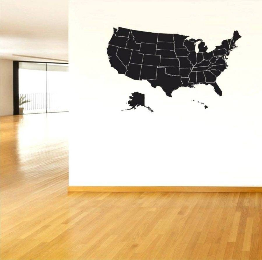 Pottery Barn Usa Map Wall Art Beautiful United States Map Canvas For 2018 United States Map Wall Art (View 5 of 20)