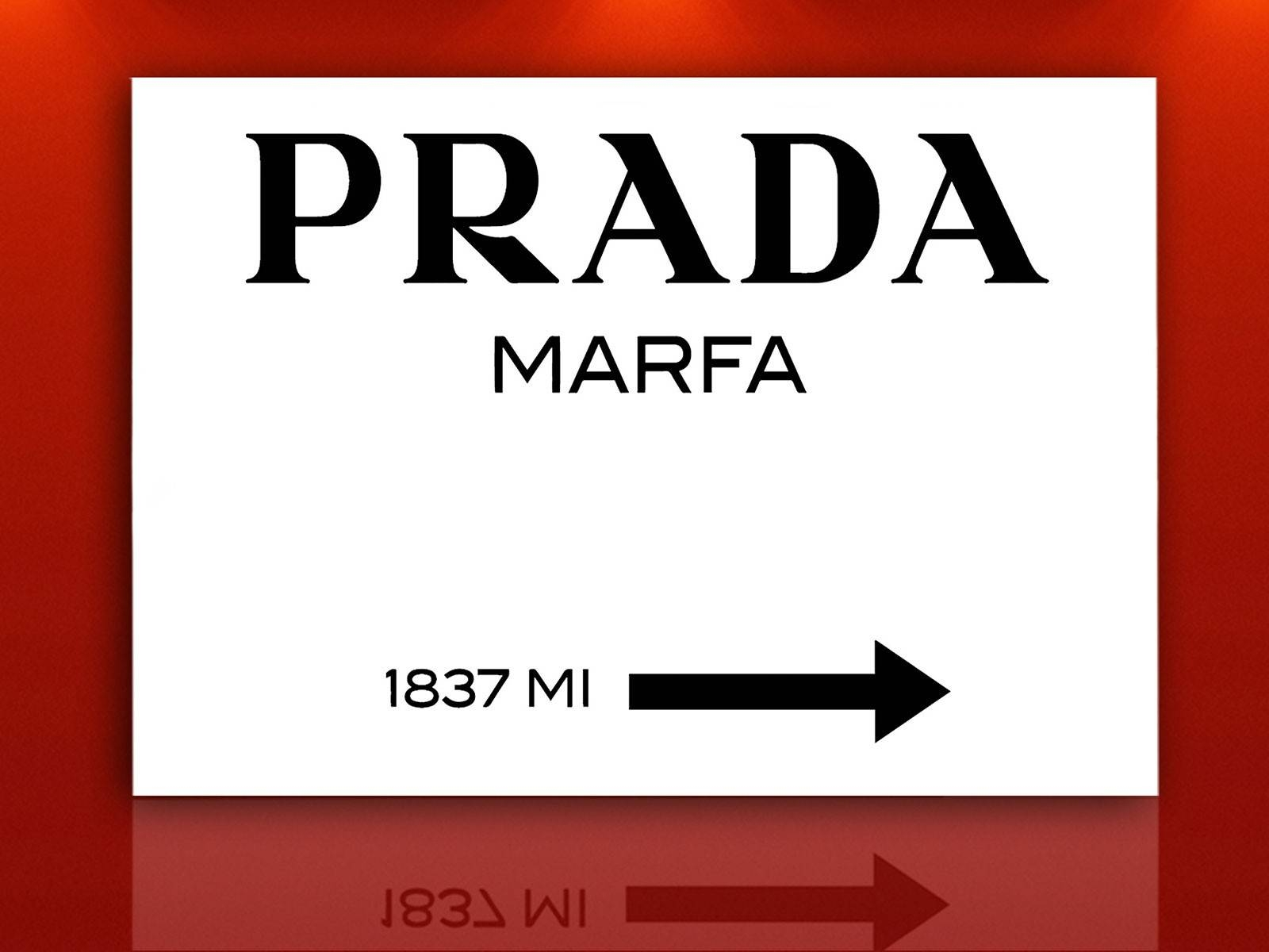 Prada Marfa Gossip Girl Sign, Painting Canvas, Wall Art, 28X20Inch Intended For Most Current Prada Wall Art (View 22 of 25)