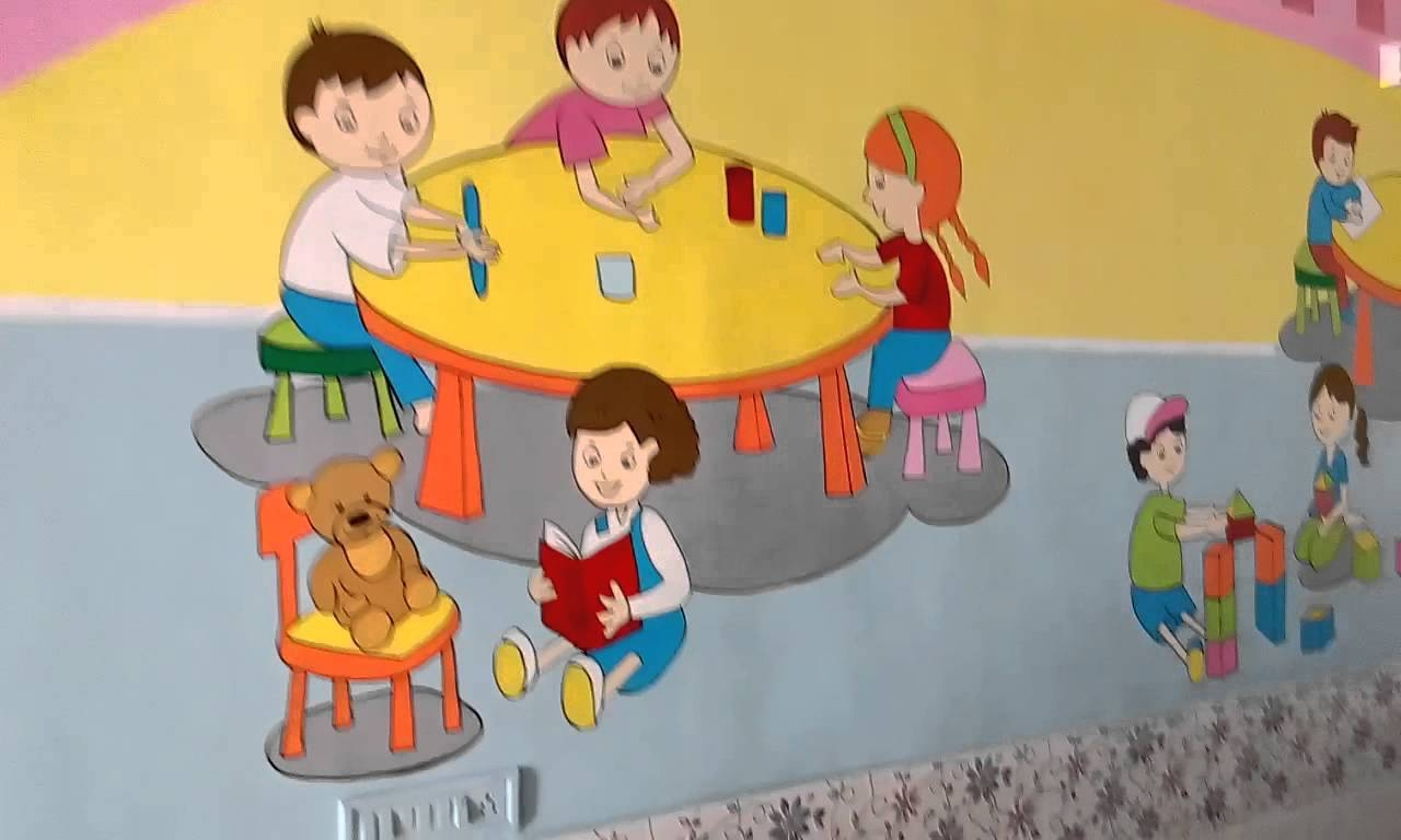 Preschool Wall Painting Ideas India – Youtube Within Best And Newest Preschool Wall Art (Gallery 29 of 30)