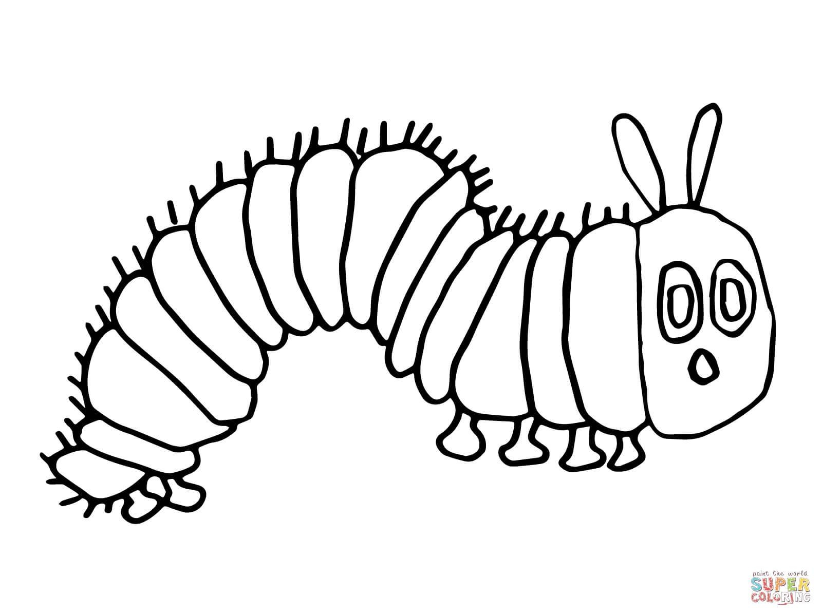 Pretty The Very Hungry Caterpillar Coloring Page Eric Carle The In Latest The Very Hungry Caterpillar Wall Art (View 12 of 25)