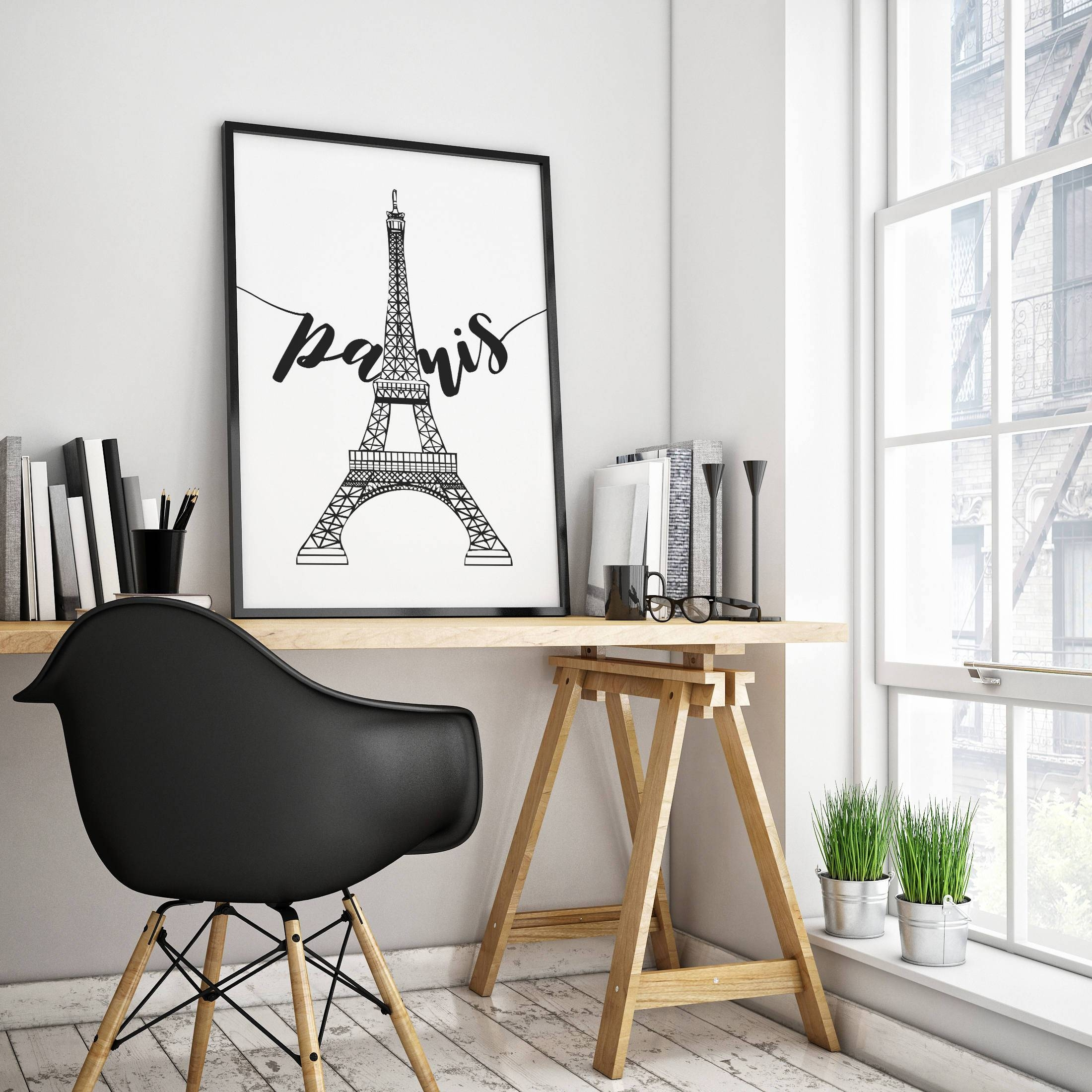 Printable Paris Wall Art Paris Artwork Paris Eiffel Tower Inside Most Current Paris Themed Wall Art (View 18 of 20)
