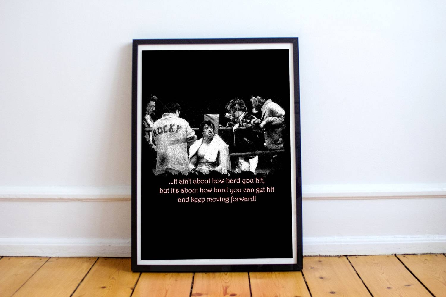 Printable Poster Rocky Balboa Quote Typography Print Wall Throughout Best And Newest Rocky Balboa Wall Art (View 6 of 20)
