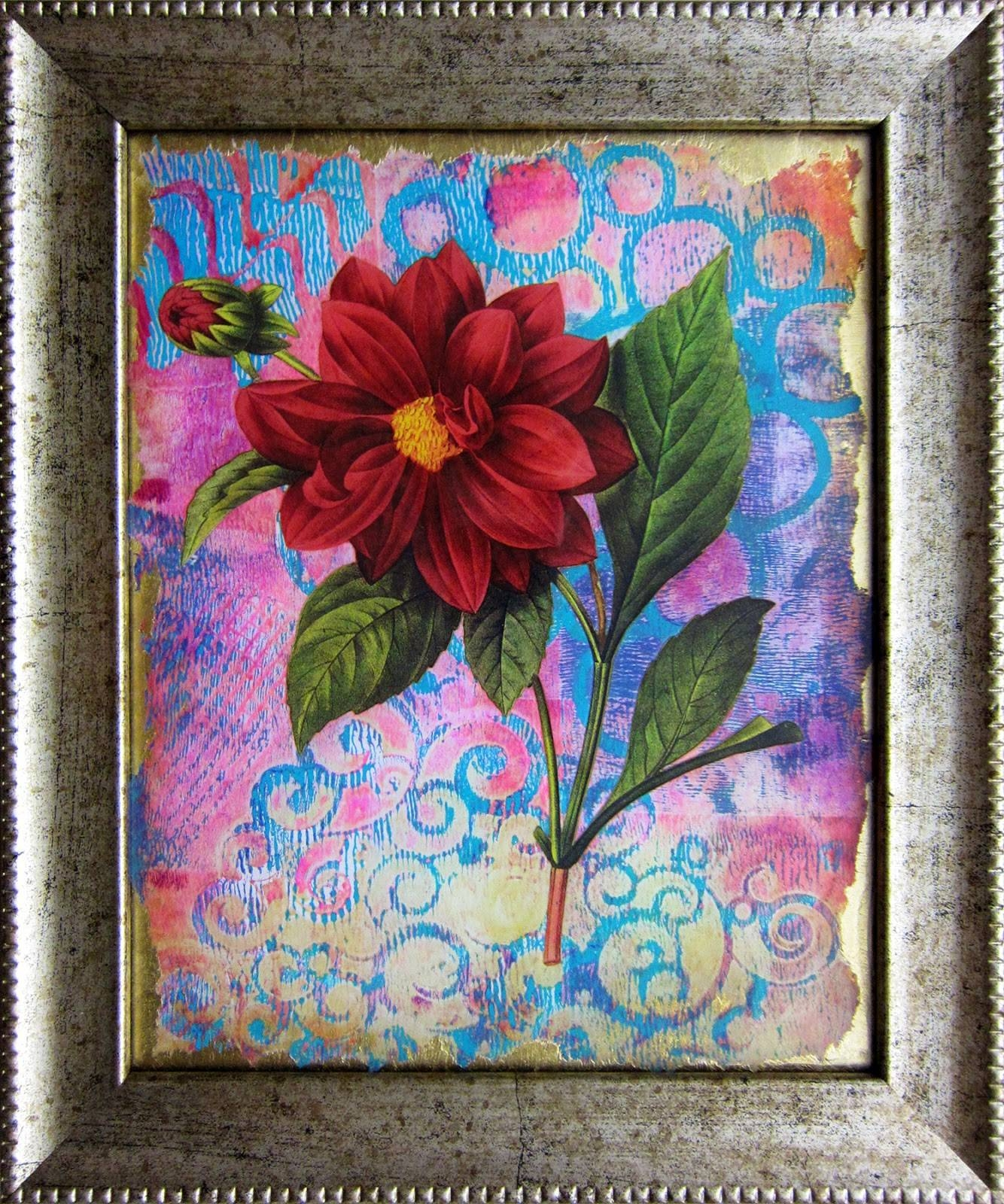 Printing With Gelli Arts®: Reverse Decoupage With Gelli® Plate Prints! Within Best And Newest Decoupage Wall Art (View 22 of 30)