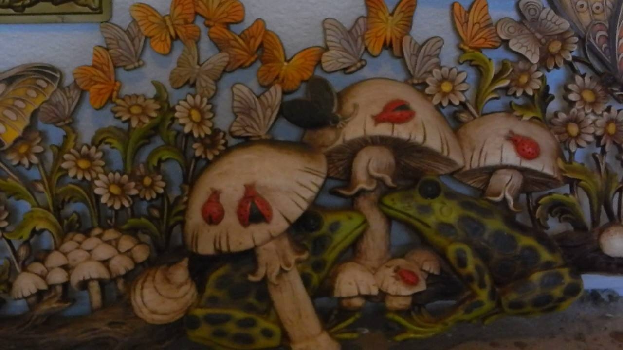 Psychedelic Hippie Mushroom Wall Art From 1971 And 1973 – Youtube With Regard To Most Current Mushroom Wall Art (Gallery 11 of 20)
