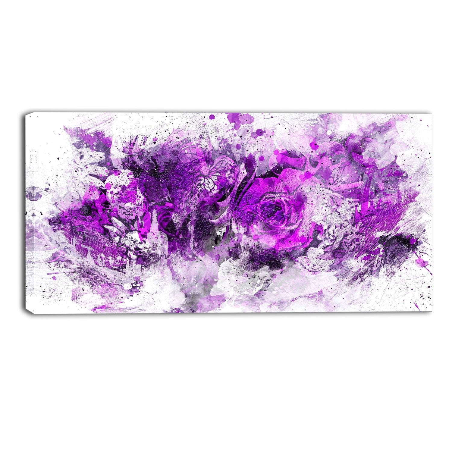 Purple Canvas Wall Art Make A Photo Gallery Purple Canvas Wall Art Inside Most Recent Purple Wall Art (View 12 of 20)