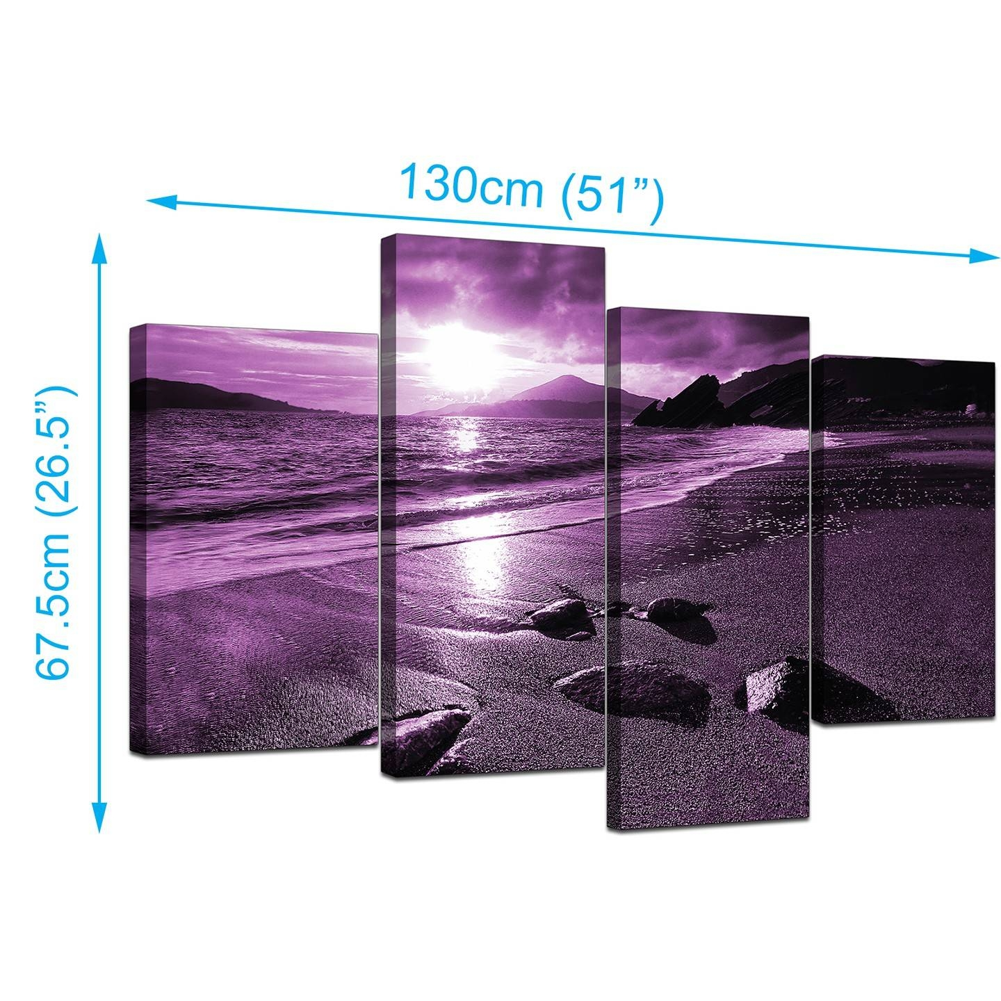Purple Canvas Wall Art | Roselawnlutheran With Regard To Most Up To Date Purple Wall Art Canvas (View 17 of 20)