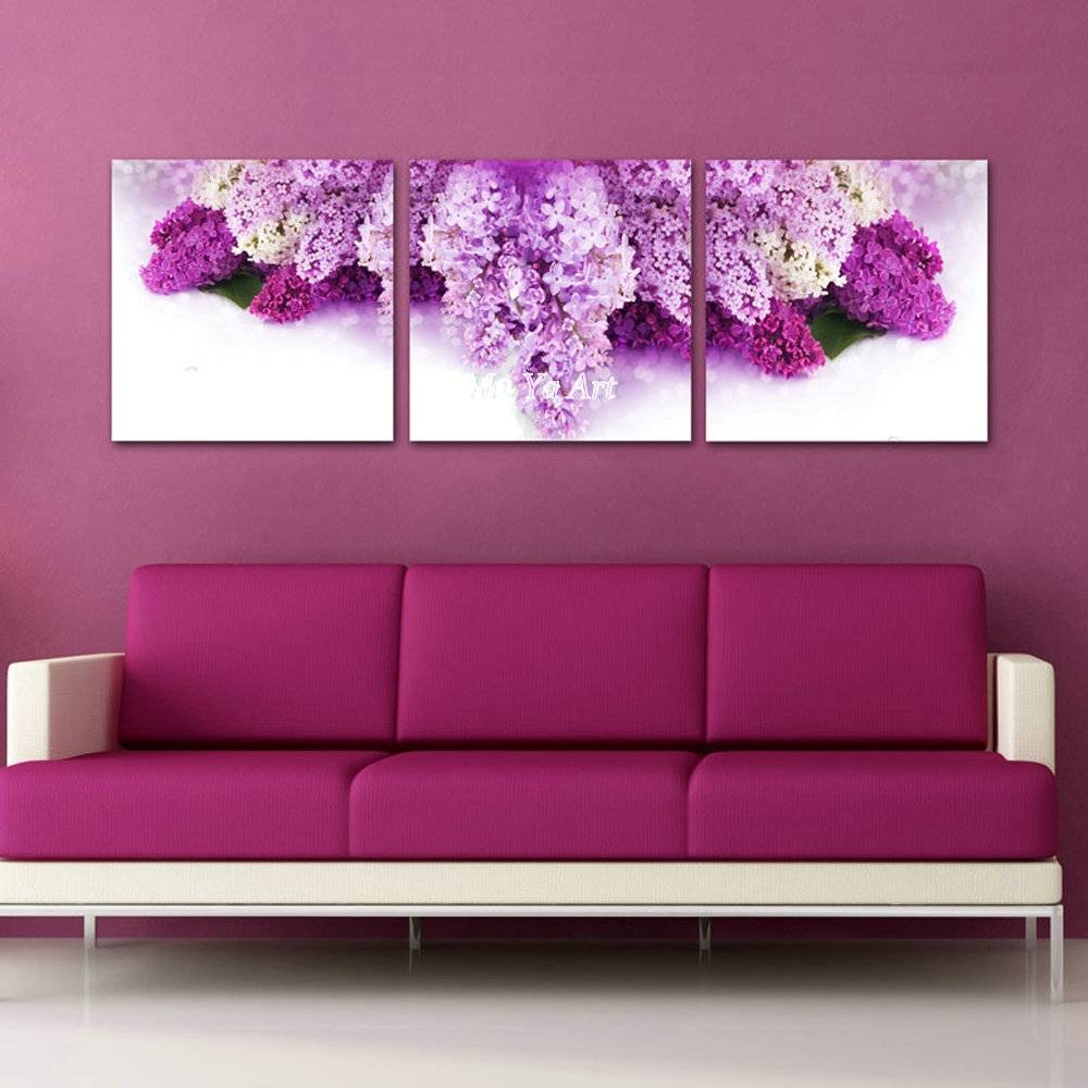 Purple Pintura Oleo Flores Abstract Famous Canvas Prints Picture Inside Newest Purple Abstract Wall Art (View 16 of 20)