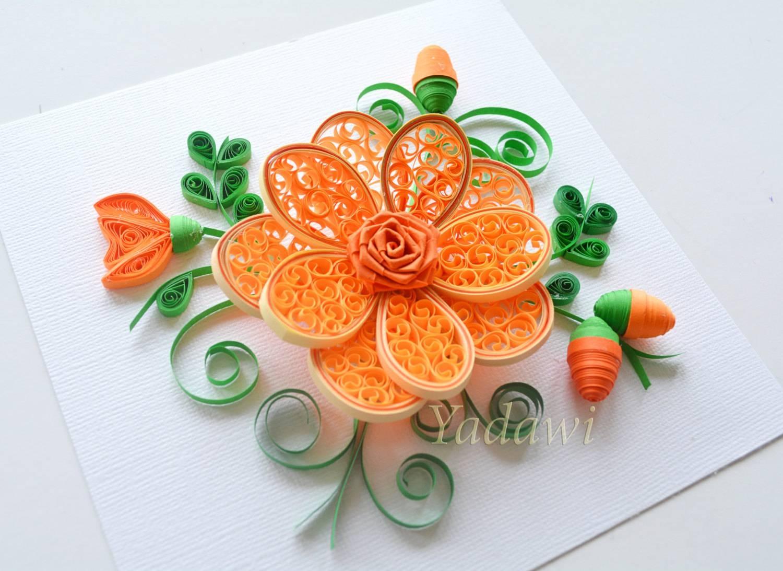 Quilled Paper Art Quilled Flower Paper Wall Art 3D Paper Regarding 2017 3D Paper Wall Art (View 19 of 25)