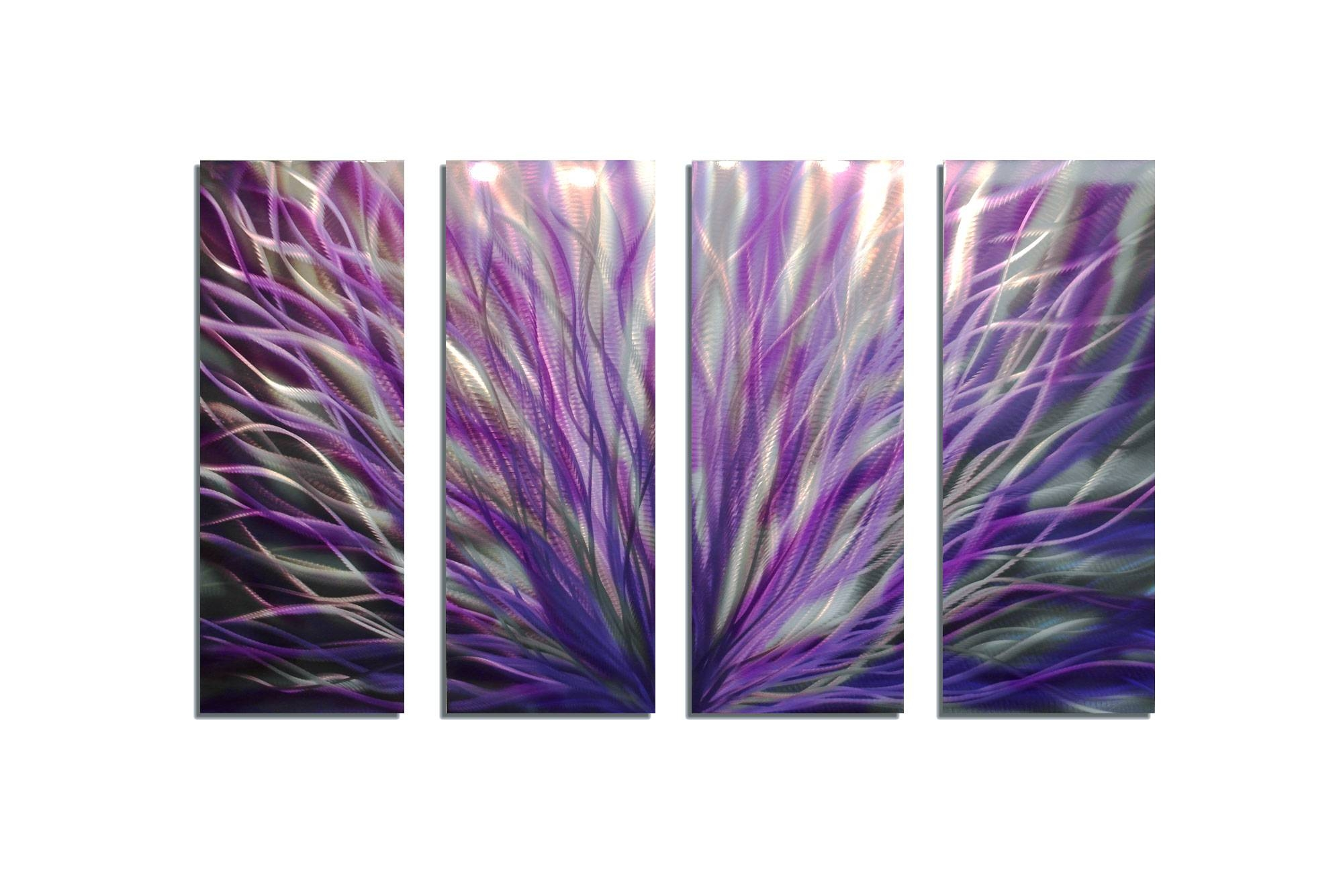 Radiance Purple 36x63 – Abstract Metal Wall Art Contemporary For Current Purple Wall Art (View 6 of 20)