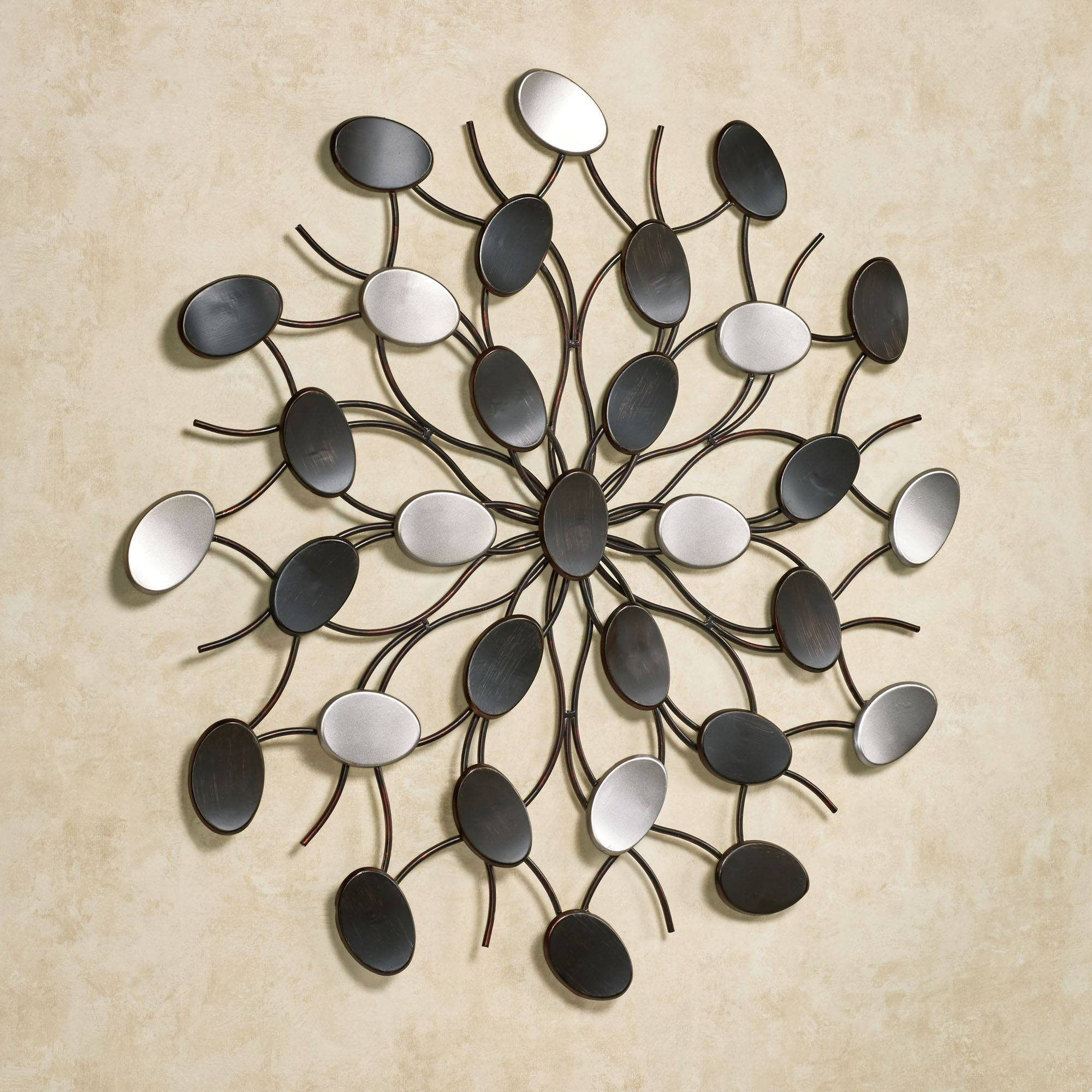 Radiant Petals Abstract Metal Wall Art Regarding Newest Metallic Wall Art (View 16 of 25)