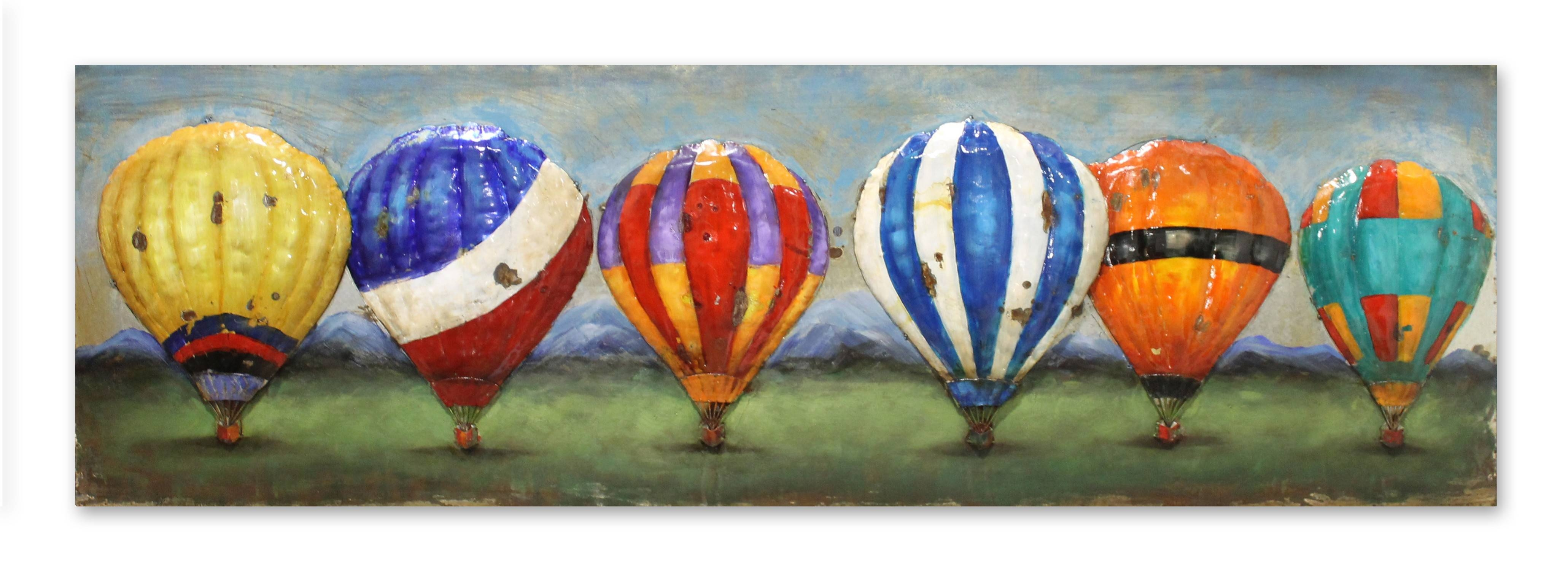 Rainbow' Hot Air Balloons 3D Metal Wall Art – Home & Interiors With Regard To Newest Air Balloon 3D Wall Art (Gallery 11 of 20)