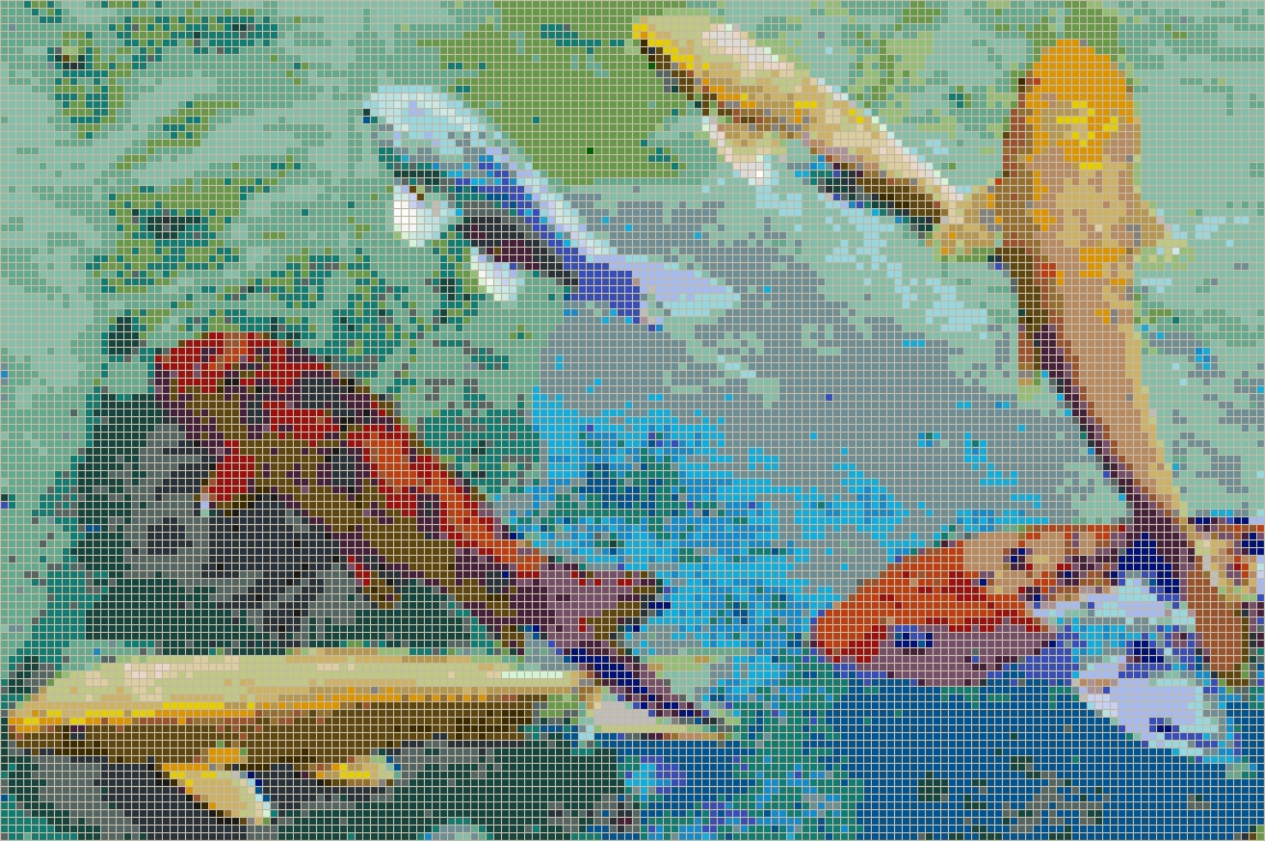 Rainbow Koi – Framed Mosaic Wall Art Throughout Best And Newest Pixel Mosaic Wall Art (View 12 of 20)