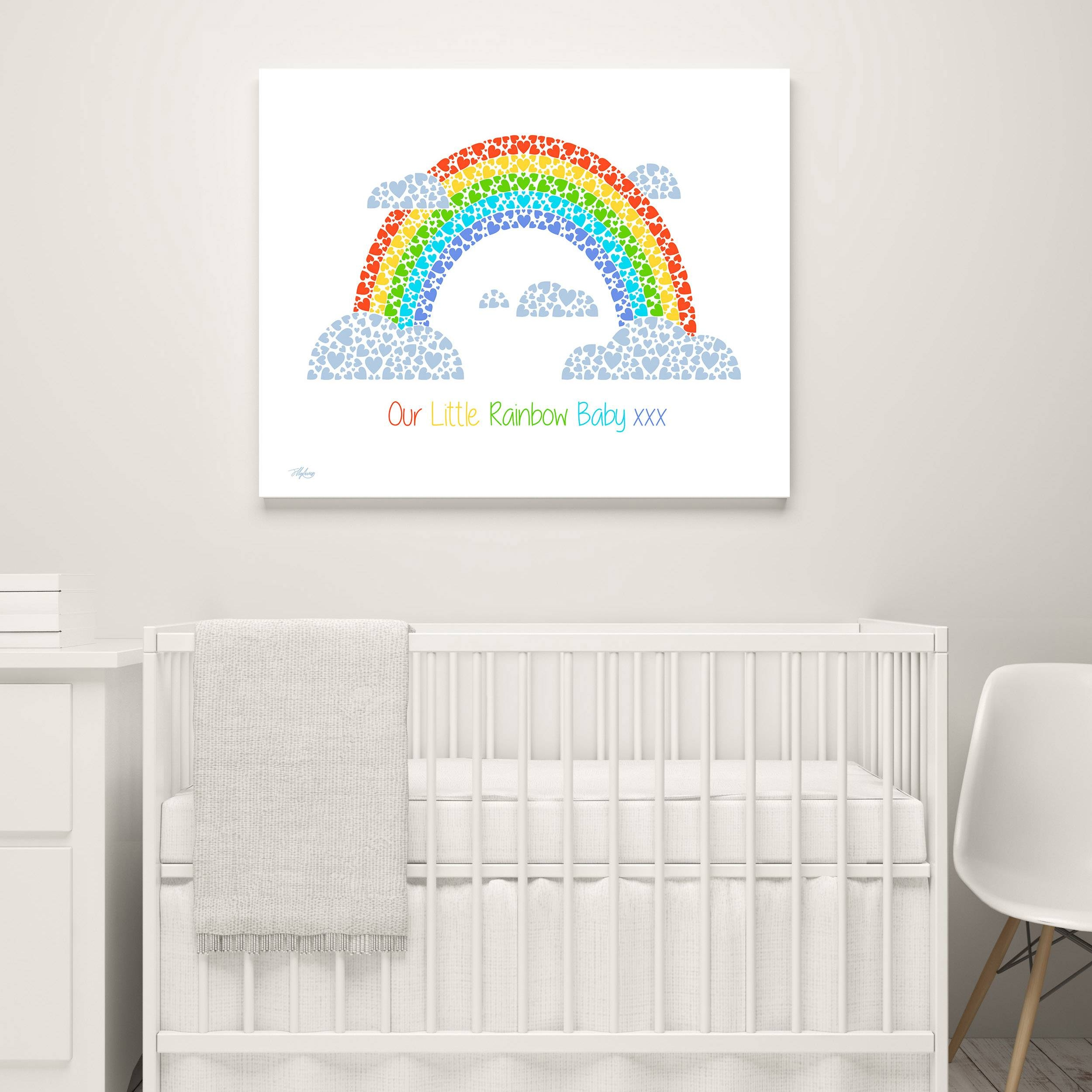 Rainbow Nursery Canvas | Fortune & Hopkins | Homeware And Ceramics Throughout Most Current Nursery Canvas Art (View 13 of 20)