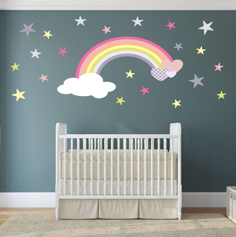 Rainbow Wall Art Nursery Decor (View 9 of 20)