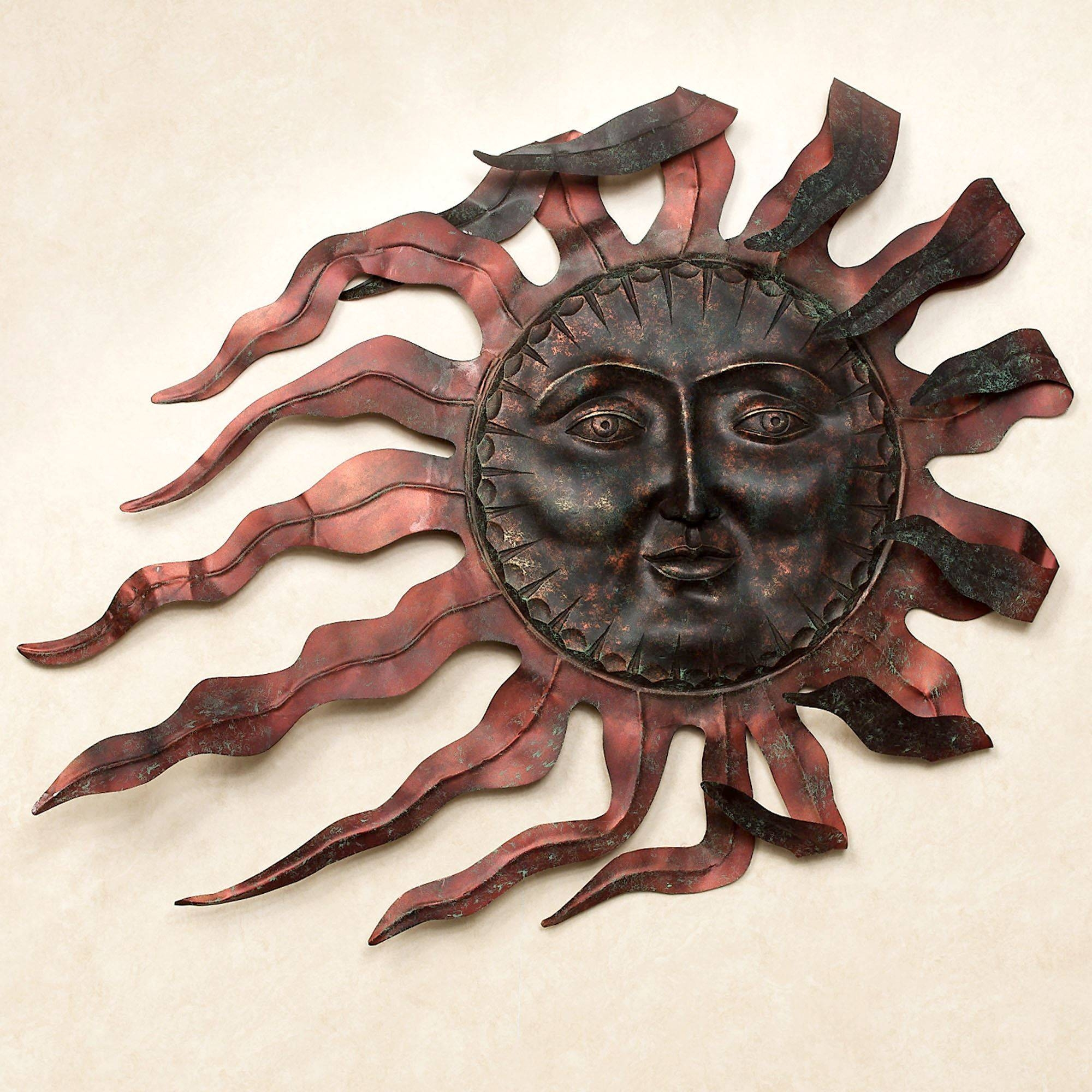 Ray Du Soleil Indoor Outdoor Metal Wall Sculpture Throughout Most Popular Southwest Metal Wall Art (Gallery 5 of 25)